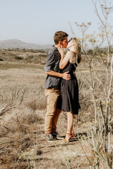An outdoor engagement session