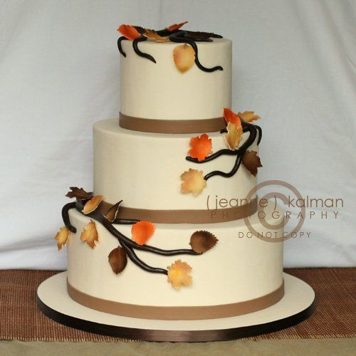 Tmx 1263014626096 FallLeavesCake Epping wedding cake
