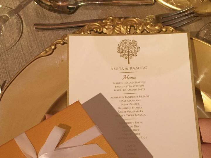 Tmx 1504886731100 Gold Wedding Menu Cards Pittsburgh, PA wedding venue