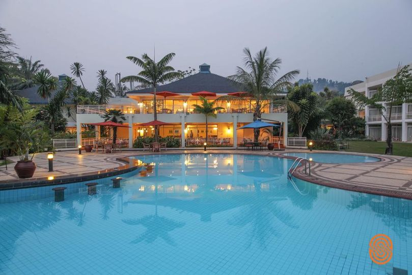 Nice hotels along the Kivu Lak
