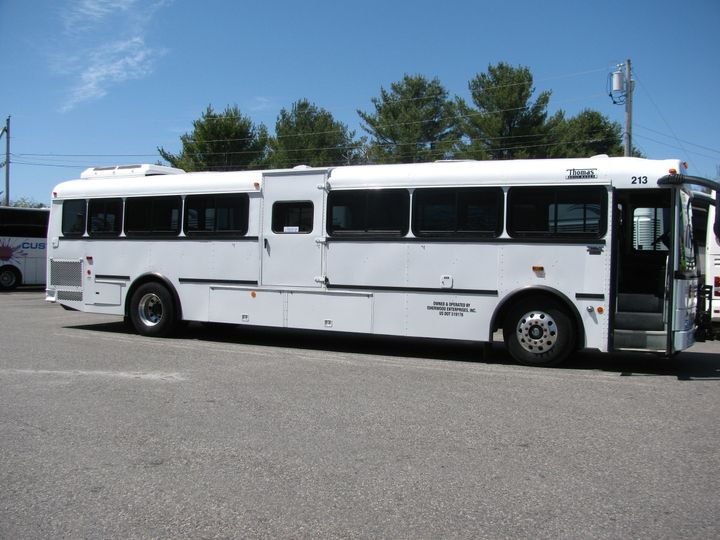44 passenger activity bus. These buses are air-conditioned and wheelchair accessible.
