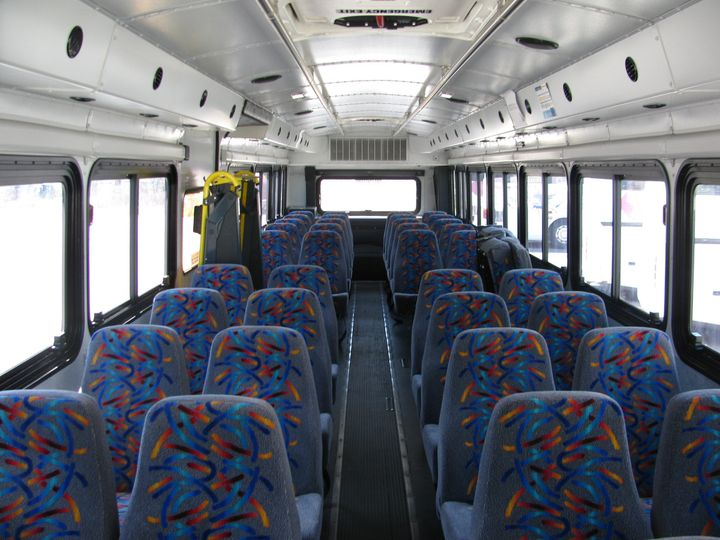 Interior view of our 44 passenger activity bus