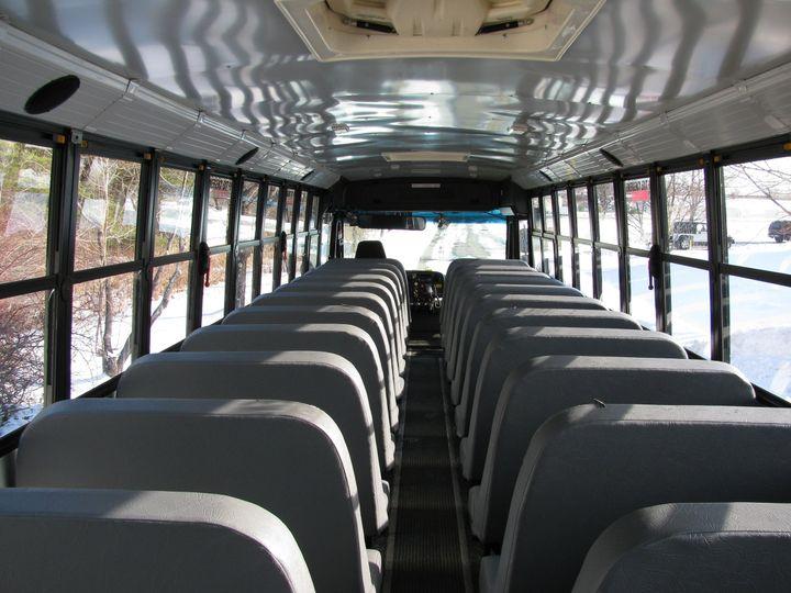 Interior view of 48 passenger school bus