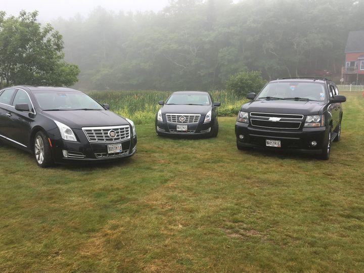 3 passenger sedans and SUV
