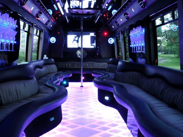 Tmx 1455666755006 Limo Bus Interior Pic Germantown wedding transportation