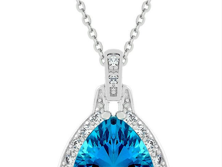 Tmx 1446040323182 Brightbluependant Lg Mantua wedding jewelry