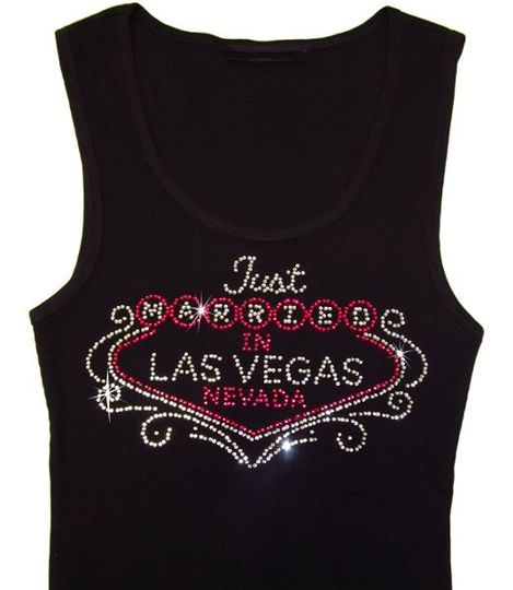 Just Married in Las Vegas rhinestone tank top from Advantage Bridal!