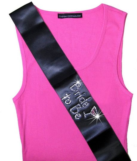 Personalized bachelorette party sashes!