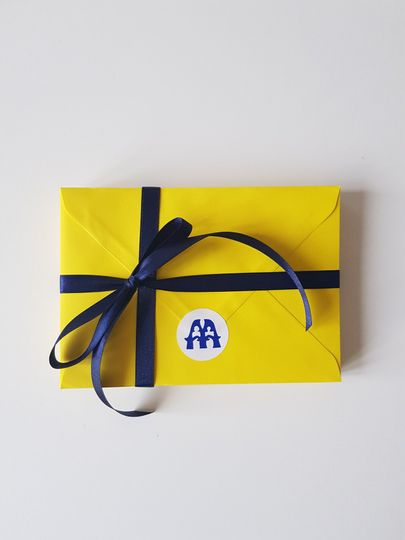 Yellow invitation