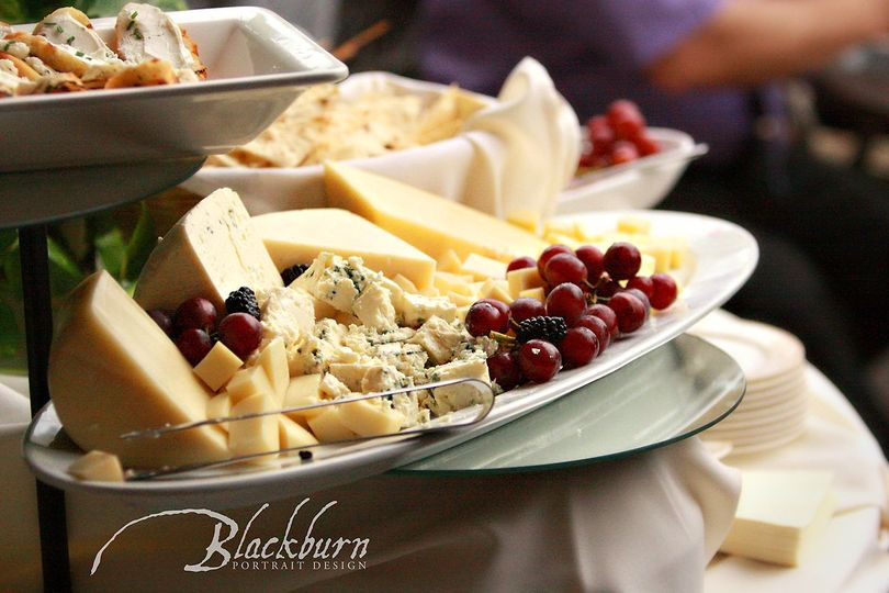 Cheese and fruit display