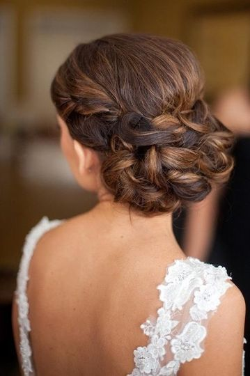 Elegant braided bun