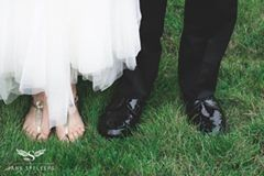 Bridal shoes at June Wedding