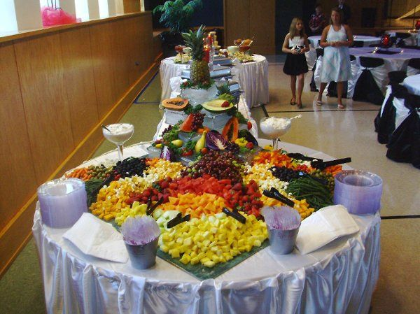 Fruit, Cheese & Veggie Display for Wedding of 400+