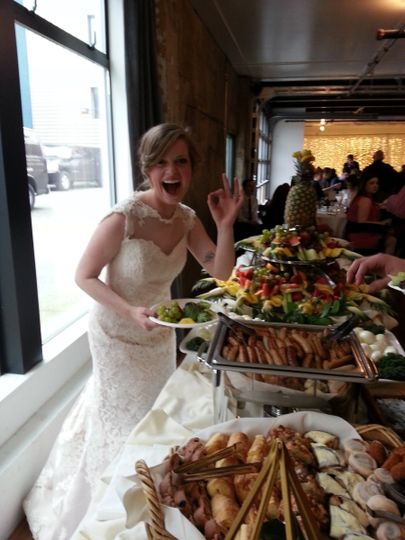 You know you are doing something right when the bride shows immediate delight