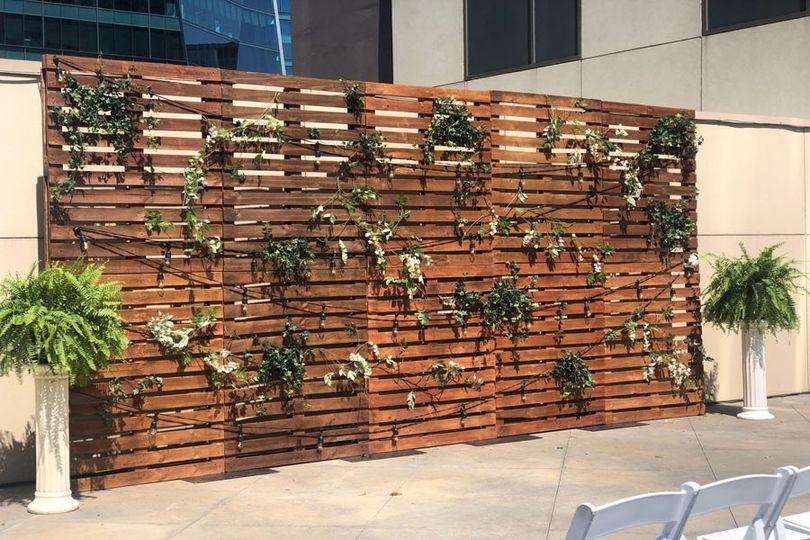 Pallet Wood Wall Backdrop