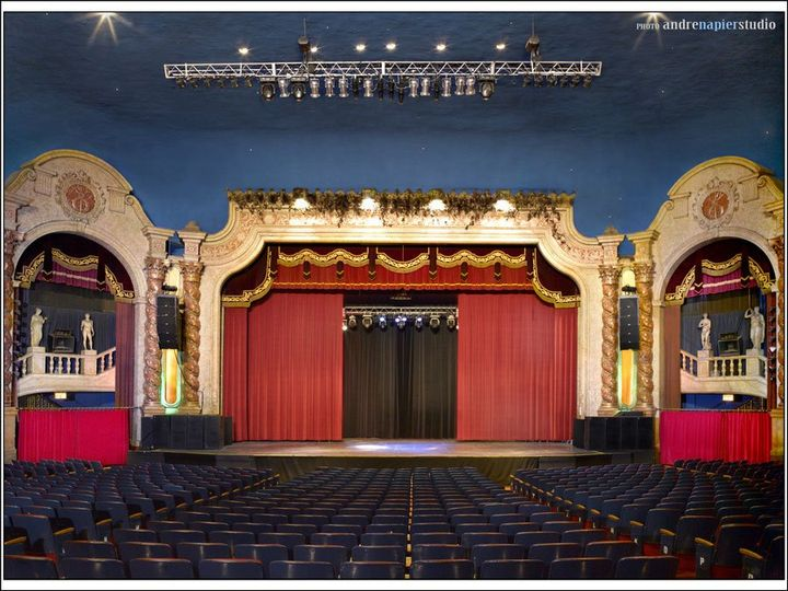 Theater:  Capacity – Main Floor 1,450, Balcony 476, Total 1,915 seats.  Two dressing rooms and stage...