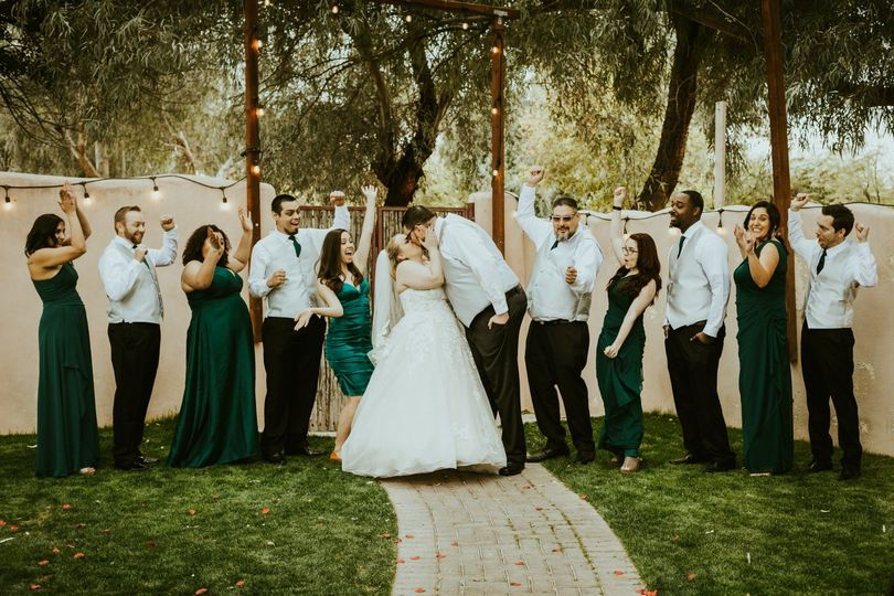 The wedding party - Frankely Photography