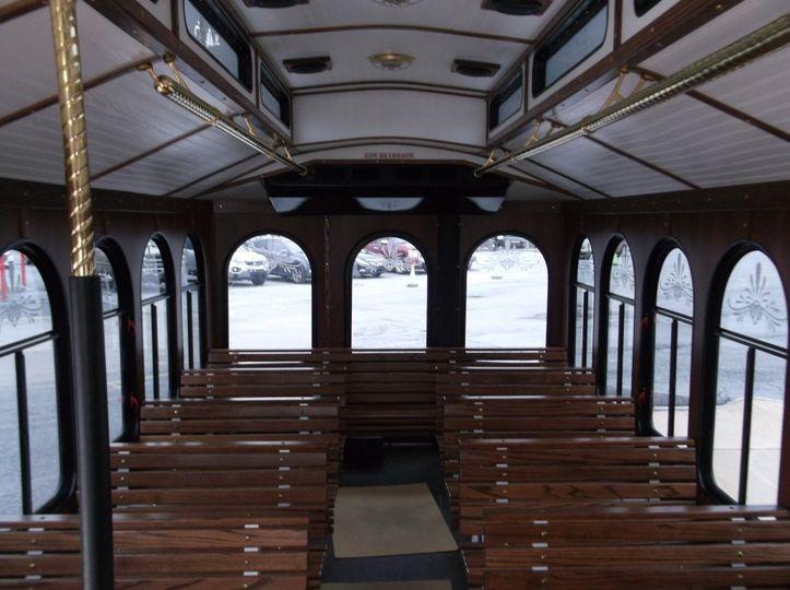 Hometown Trolley Interior