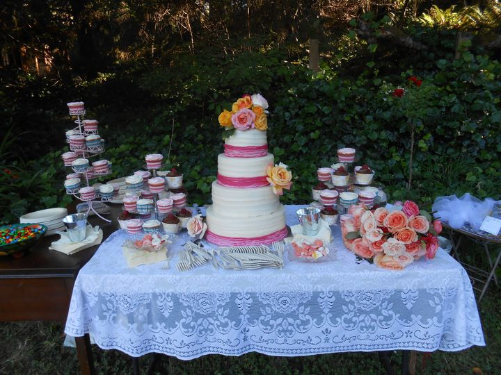 When you need more servings than your wedding cake provides, adding cupcakes in multiple flavors...