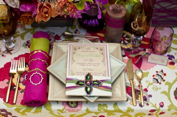 Wedding reception stationery