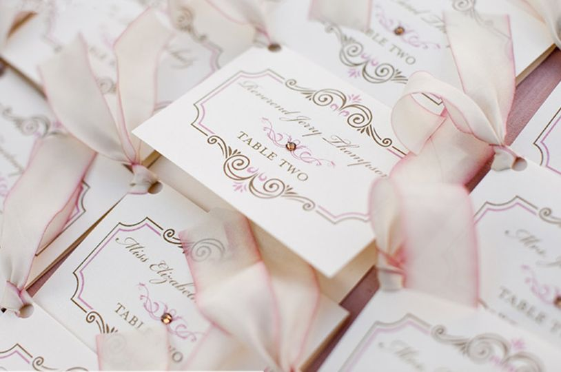 Event stationery place cards