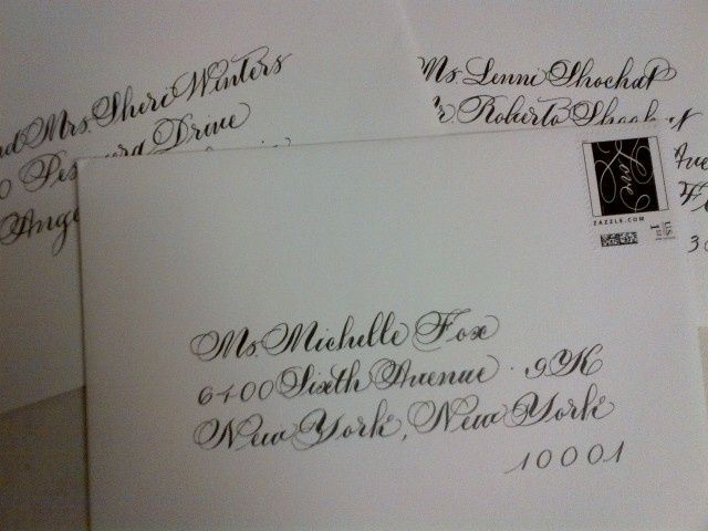 Calligraphy by Elaine Wedding Envelopes addressed. #CBE #CalligraphybyElaine Our every day work,...
