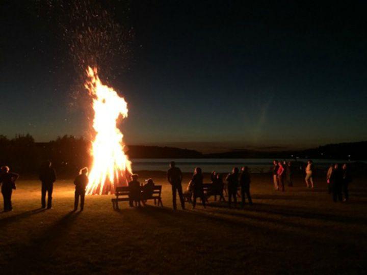 Bonfire on the lakeside