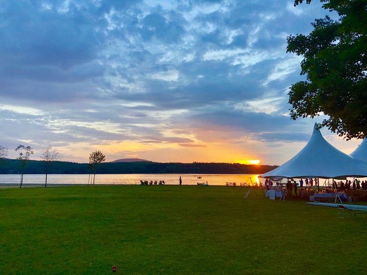 Reception at sunset.