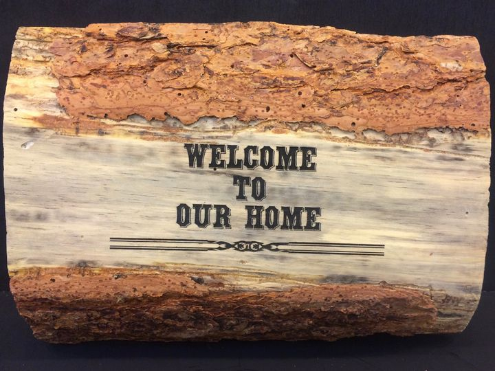 Tmx 1467252368394 Wood Welcome To Our Home Black Basalt wedding favor