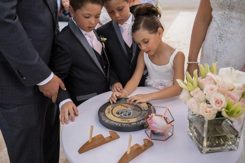 Family puzzle wedding