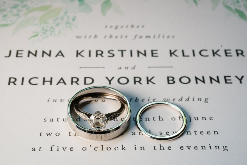 Rings on an invitation