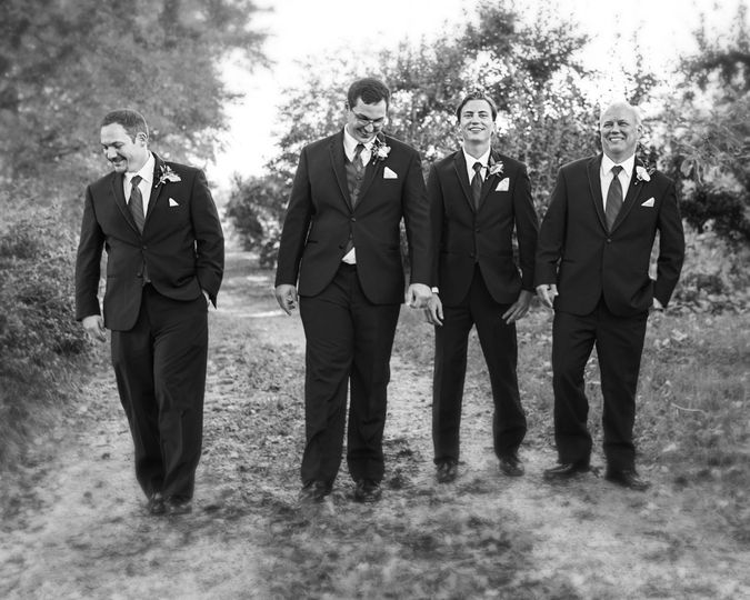 Members of the wedding party