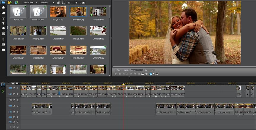 Screen shot of our editing process for Patrick and Leslie.