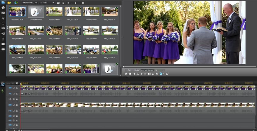Screen shot of our editing process for Justin and Sarah.