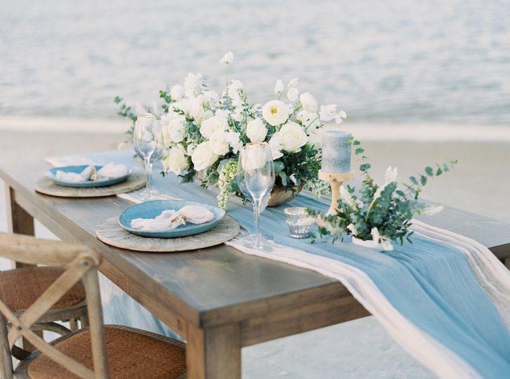 Blush blue setting