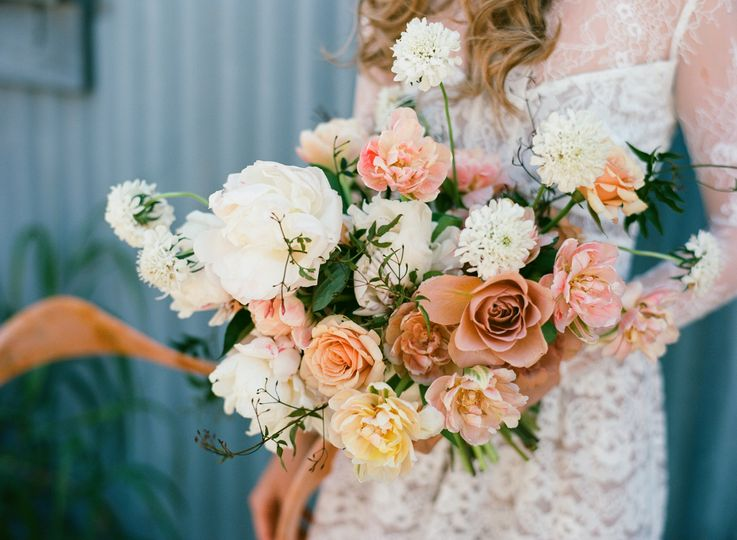 Orange florals