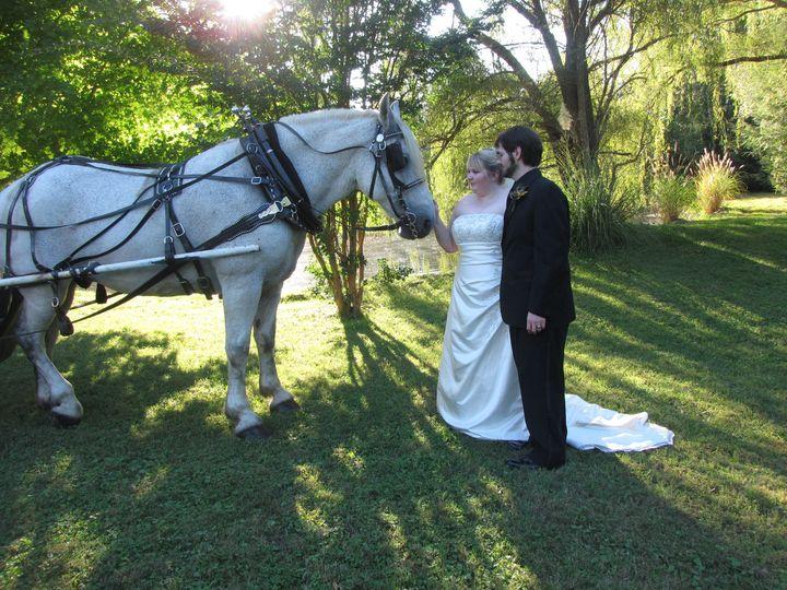 Tmx 1393364497870 Sarah And Dj With Sampso Landrum, South Carolina wedding transportation