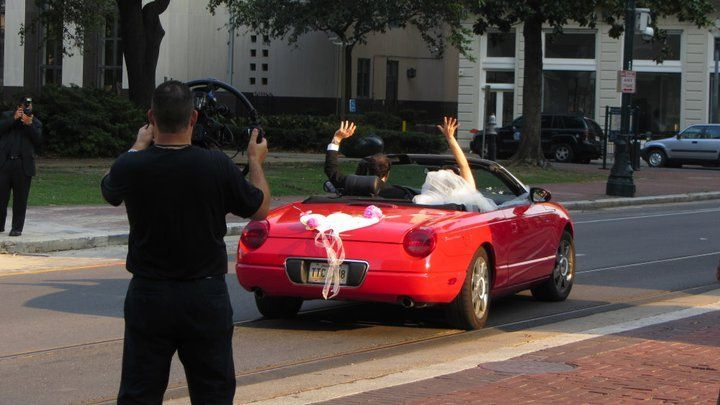 Burger 'n Fries wave goodbye to the new married couple @ Gallier Hall New Orleans La. 2012. Happy...