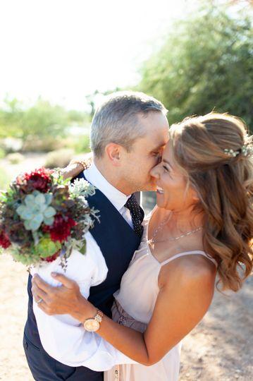 Fun couple - desert elopement