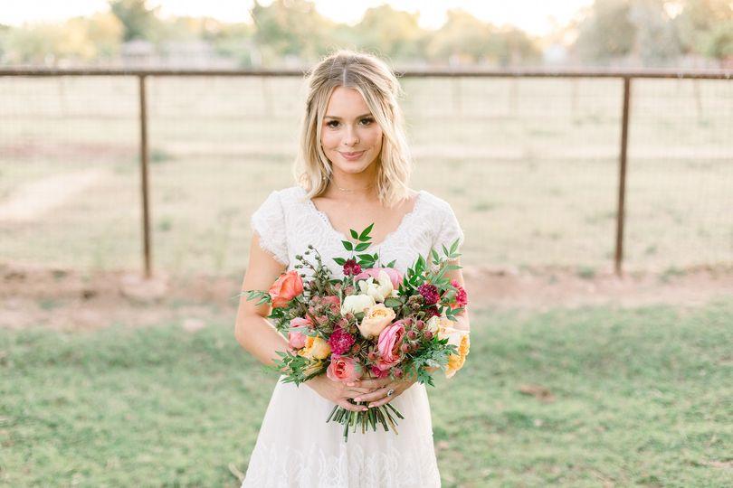 Beautiful boho farm wedding