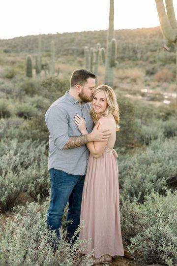 Gorgeous desert engagement