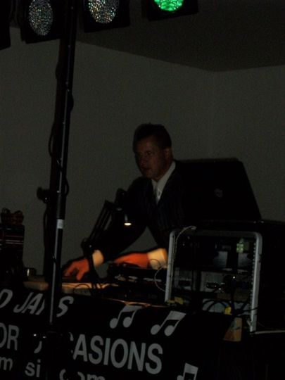The DJ at work