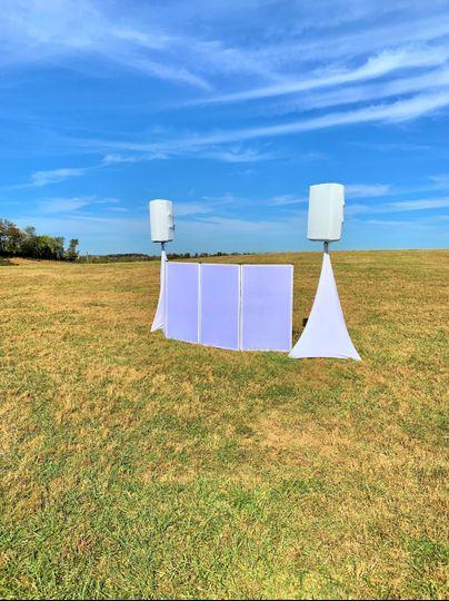 Reception in a field