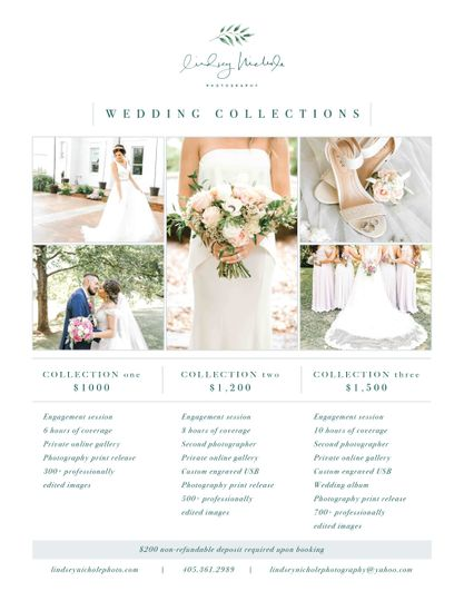 Wedding Prices Lindsey Nichole