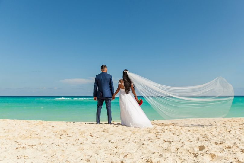 Beach newlywed session