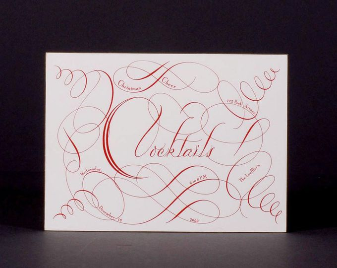 Custom calligraphy by Bernard Maisner Fine Stationer