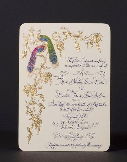 Wedding invitation by Bernard Maisner