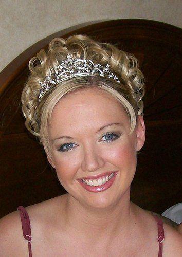 Bridal updo and tiara