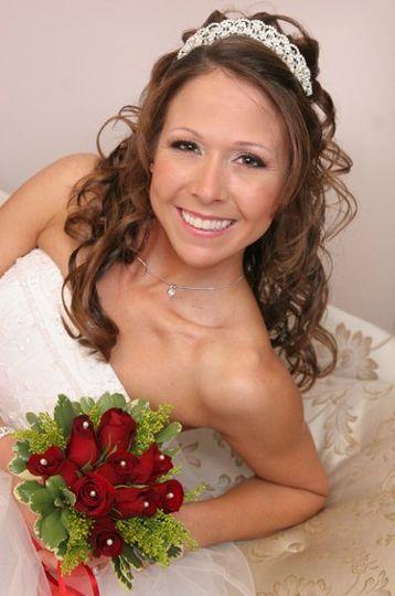 Bridal hairdo with headband