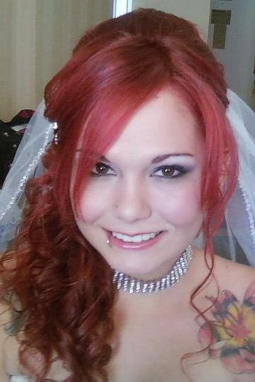 Bride with red hair